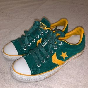 Converse One Star Vintage Low-Tops Yellow+Green
